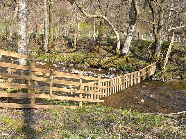 Fence across the Hermitage Water