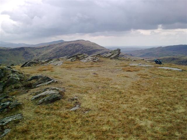 Summit area of Moel-yr-hydd
