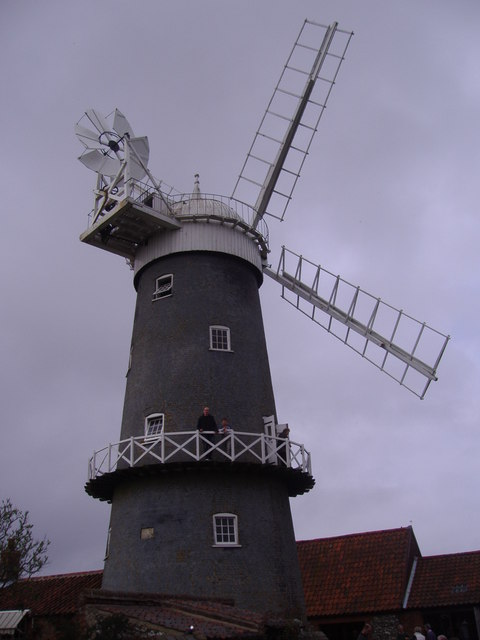 Great Bircham Tower Windmill on a Grey April Day
