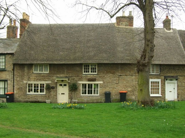 """Thatched cottages near the """"Butter Market"""""""