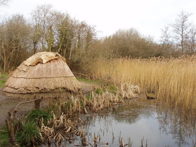 Hunter gatherer's camp at Irish National Heritage Park