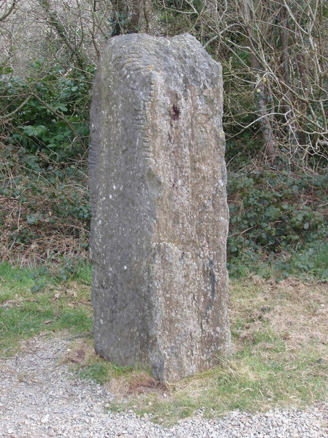 Ogham stone, Irish National Heritage Park