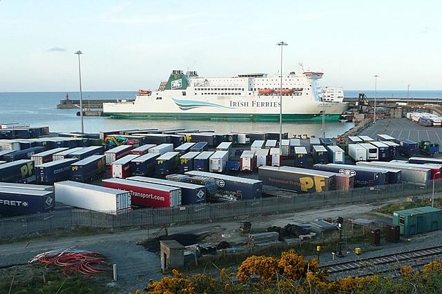 Rosslare harbour graham horn geograph ireland - Rosslare ferry port arrivals ...
