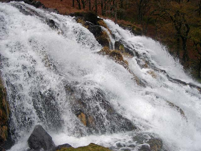 Waterfall on Afon Cwm Llan - Watkin Path Snowdon