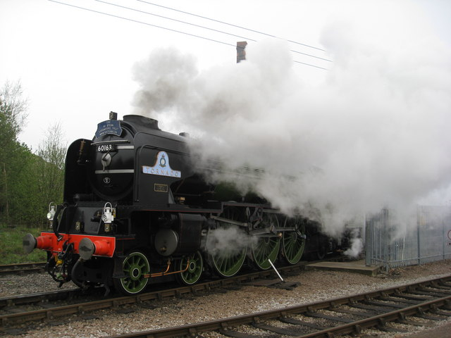 60163 (Tornado) Steams out of Barrowhill
