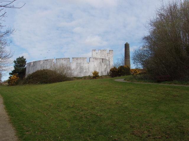 Norman castle exhibit, Irish National Heritage Park