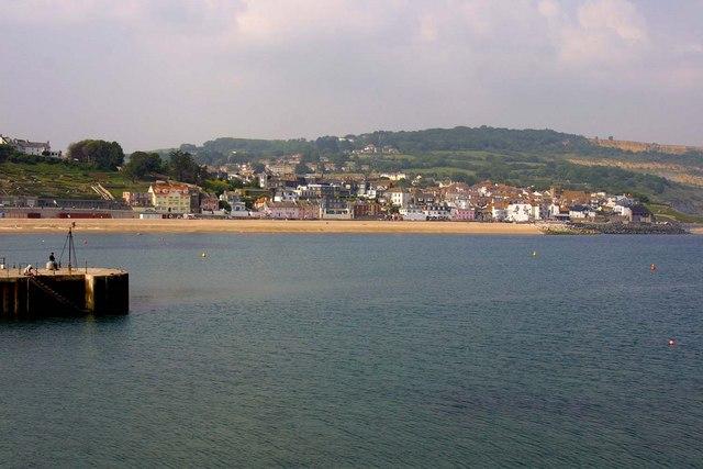 Lyme Regis from the Cobb breakwater