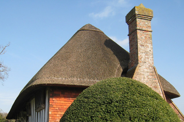 Thatched roof of the Clergy House