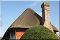TQ5202 : Thatched roof of the Clergy House by Oast House Archive