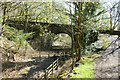 SE0420 : Bridge over the dismantled Rishworth Branch railway line by David Martin