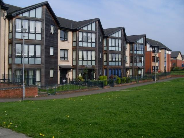 Modern flats in easterhouse
