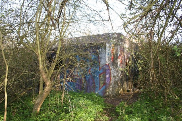 Pillbox in the hedge