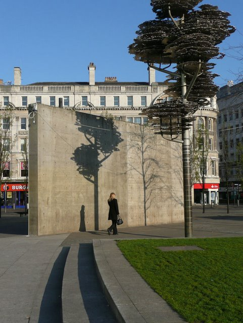 The corner of Piccadilly Gardens