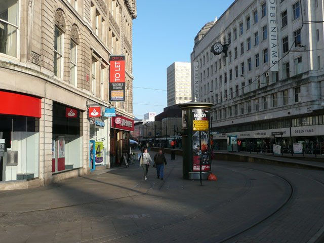 Looking towards Debenhams on Market Street
