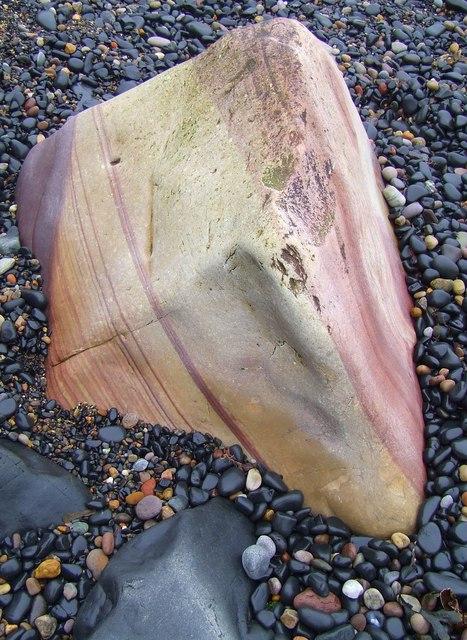 Sandstone boulder, Crail