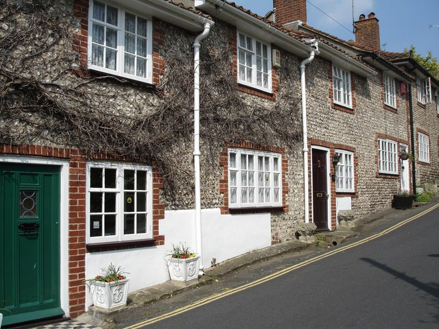 Flint cottages in Church Hill, Patcham