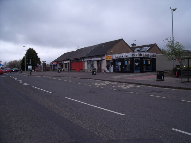 Shops on Polmont main street