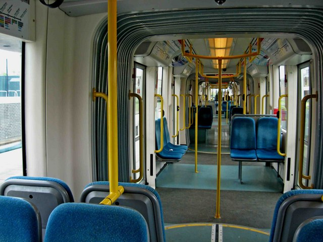 Nottingham Express Transit Tram Interior 169 L S Wilson