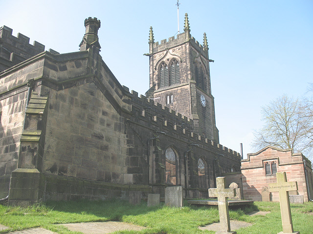 North side of St Mary's church, Sandbach