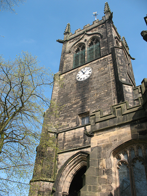 Bell tower of St Mary's church, Sandbach