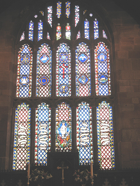 East window of St Mary's Sandbach