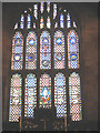 SJ7560 : East window of St Mary's Sandbach by Stephen Craven