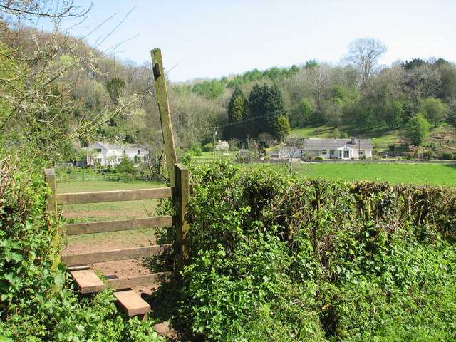 Stile on footpath to Traphill wood