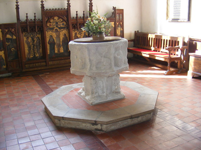 Font at St.Mary's Church, Kelsale