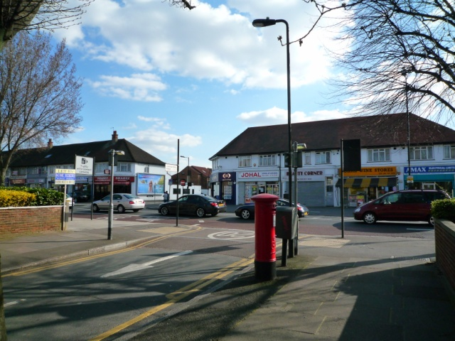 Livingstone Road at junction with the Uxbridge Road, Southall