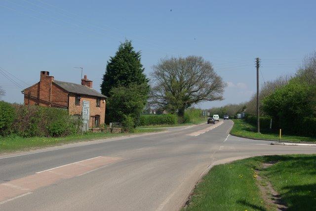 The A445 through Waverley crossroads