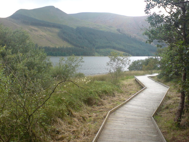 New boardwalk by Llyn Cwellyn