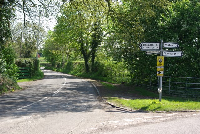 Junction near to Bubbenhall