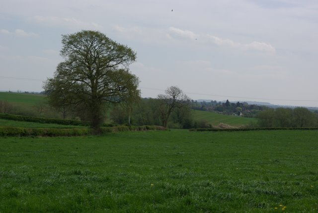 Fields near to Weston Fields Farm