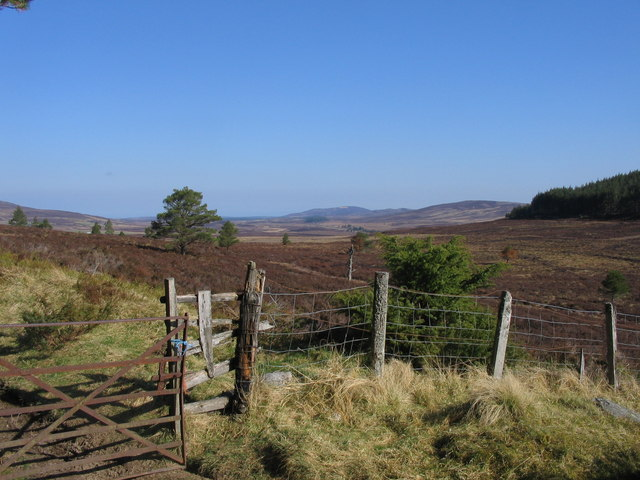 View across the Dava Moor towards Carn Biorach