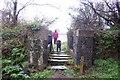SW7123 : Stone Stile at the Mount, Trelowarren by Trevor Harris