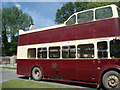 TQ0211 : Historic bus at Amberley Chalkpit museum by Paul Gillett