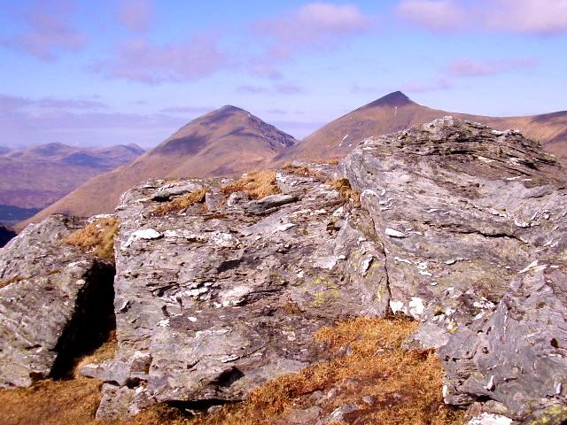 Ancient rocks on Beinn Tulaichean