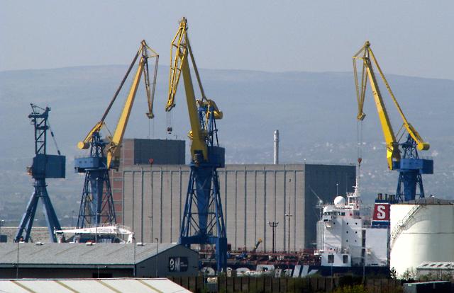 'Stena Provence' in dry dock, Belfast