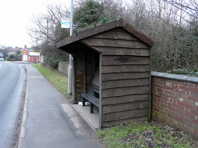 Bus shelter at Yoxall