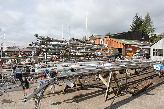 Masts at Ardfern