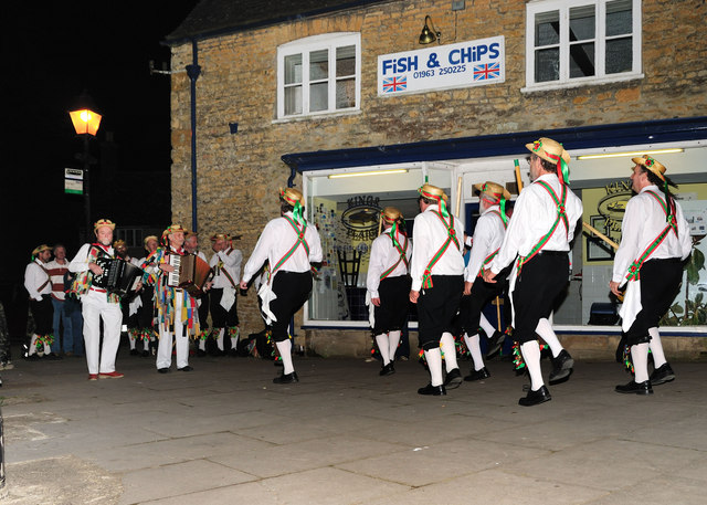 Morris Men on St Georges Day.