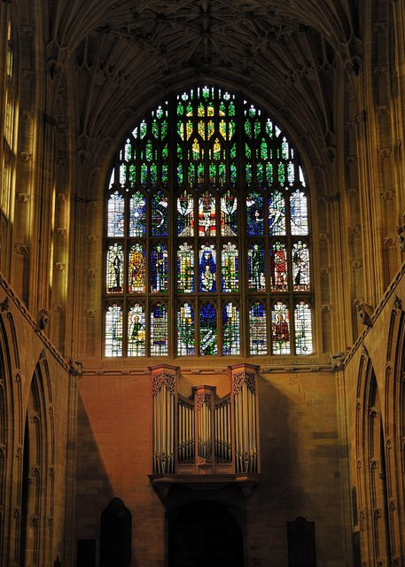 The West Window At Sherborne Abbey