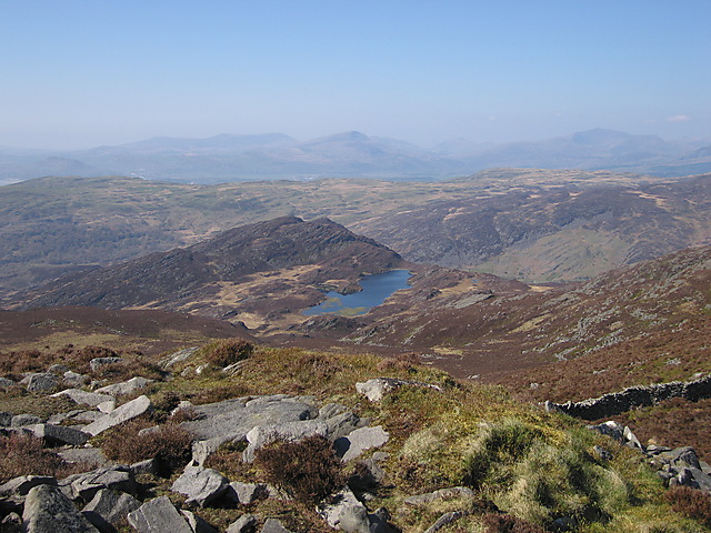 View from the western slope of Rhinog Fawr