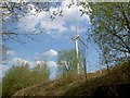 SE2102 : A single wind turbine looms over the Trans Pennine Trail by Steve  Fareham