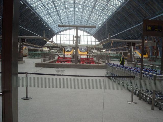Eurostar Trains at St Pancras Station, London