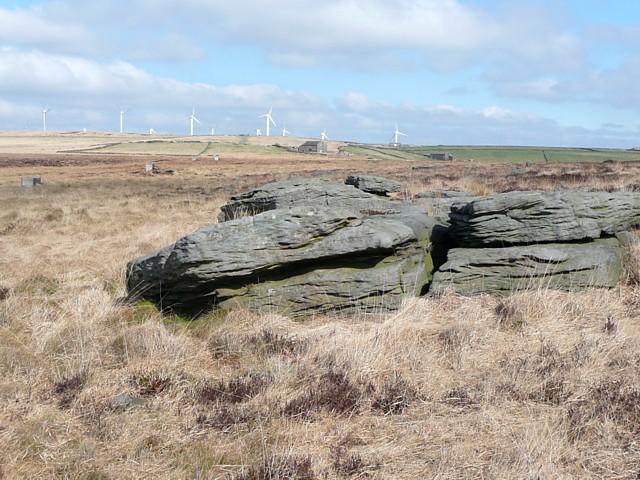 Rocks near the Rocking Stone, Warley Moor