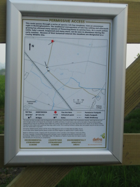 Noticeboard, Permissive Footpath near Shipton Lee