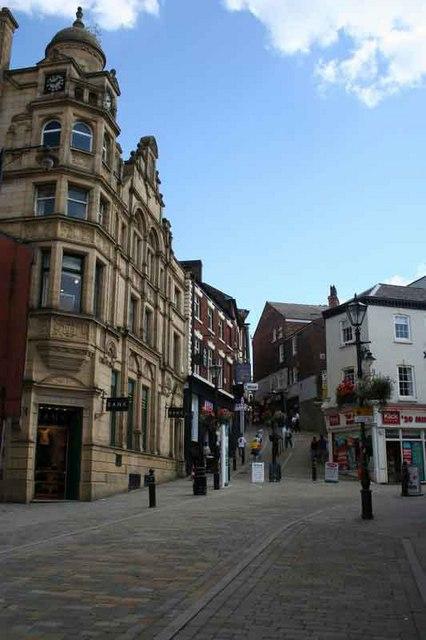 Pedestrianised street in Stockport