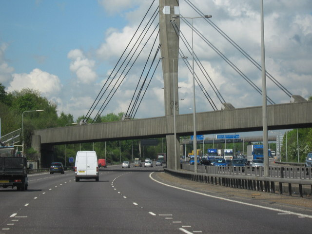 Railway Bridge Crossing M25, Clockwise, Just  Before Junction 12