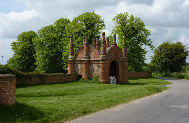 The gateway to Erwarton Hall
